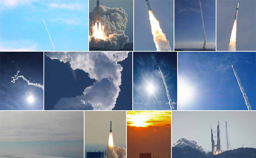 「しきさい」「つばめ」/H-IIAロケット37号機 打ち上げ写真集