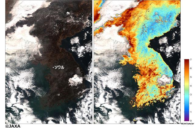 PM2.5濃度予測の精度向上に貢献する日本の人工衛星
