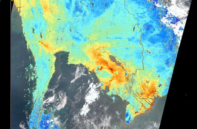 気候変動観測衛星「GCOM-C」が捉えたインドシナ半島の大気汚染物質