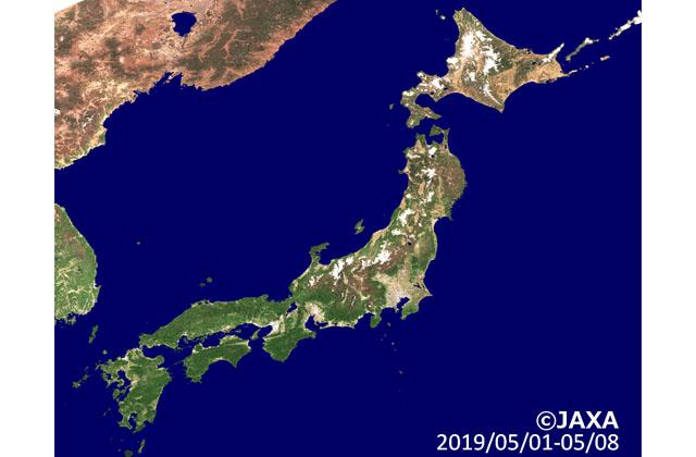 地球が見える 「しきさい」が捉えた日本列島の展葉