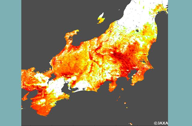 「しきさい」が捉えた日本の猛暑(7/14)
