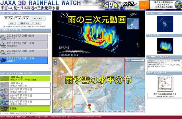 GPM主衛星による三次元降水観測の動画閲覧用ウェブサイトを公開しました