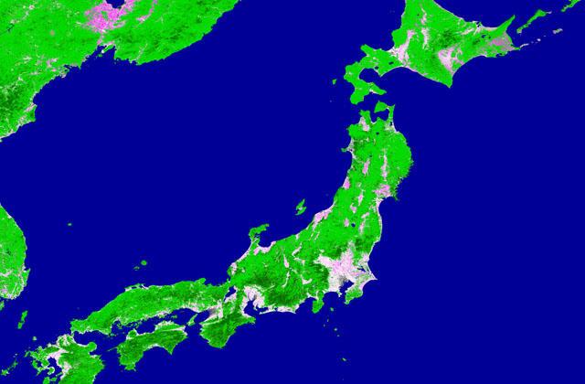 「しきさい」による秋の日本列島の土地被覆変化