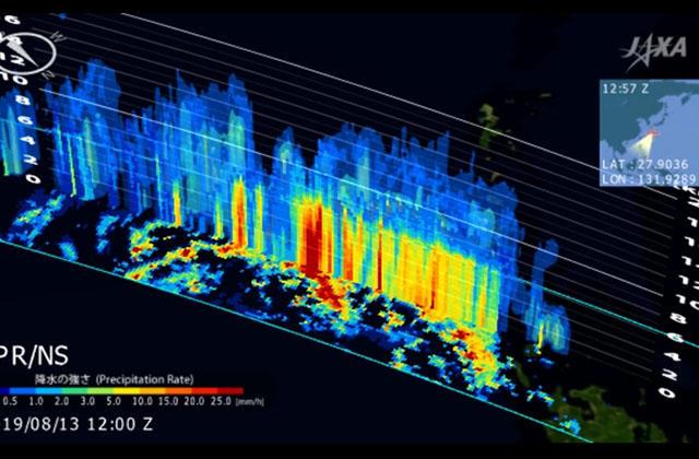 地球が見える 進路予測が難しかった2019年台風10号