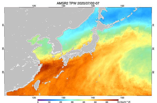 九州に大雨をもたらした梅雨前線に伴う降水の時間変化や水蒸気量の観測
