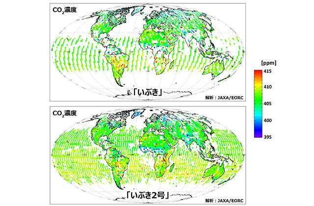 地球が見える パリ協定実現に向けた温室効果ガスの長期観測継続へ~「いぶき2号」による二酸化炭素分布の初解析~