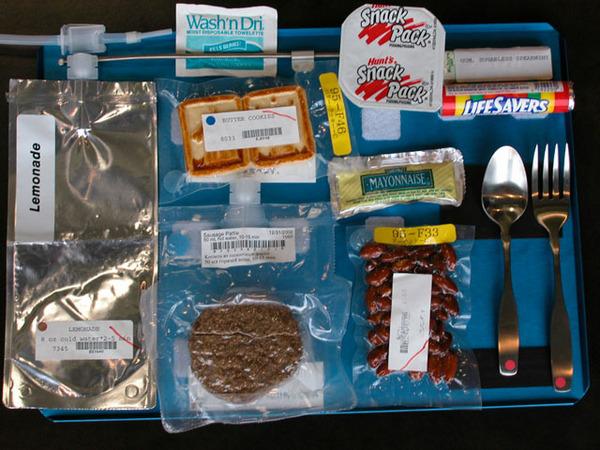 スペースシャトル・国際宇宙ステーション時代の宇宙食の例