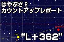 """""""L+362""""  (速報)第3回軌道補正マヌーバは実施せず。2回目までで十分な軌道精度に。"""