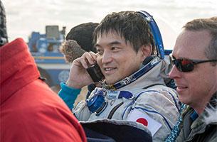 ソユーズ宇宙船(47S)着陸!おかえりなさい、大西宇宙飛行士!