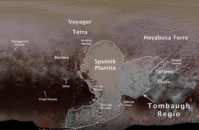 冥王星表面の地名にHayabusa Terraという名前が付けられました