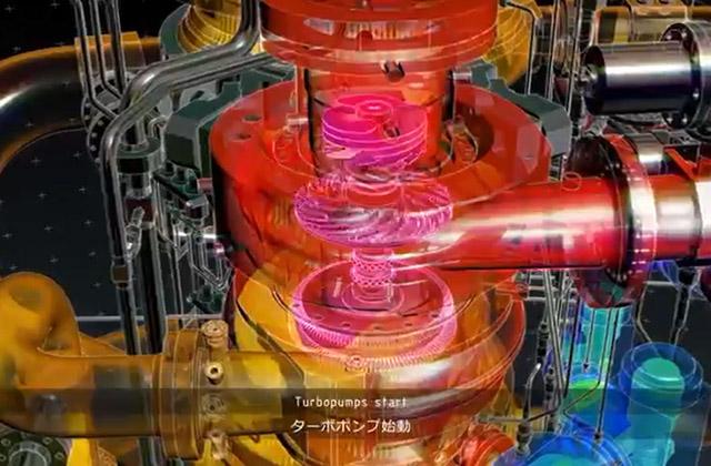 H3ロケットメインエンジン(LE-9)CG映像公開