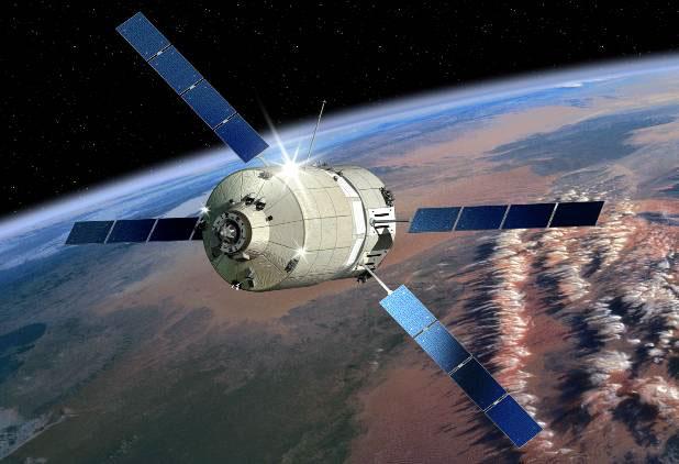 軌道上を飛行するATVのイメージ(ESA/D.Ducros)