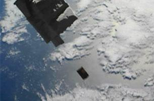 「こうのとり」6号機が「きぼう」に運んだ超小型衛星の放出に成功