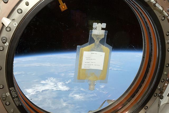 「きぼう」の窓と宇宙日本食