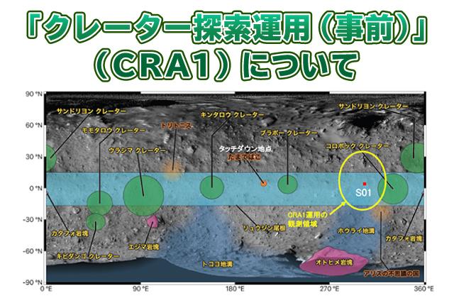 [はやぶさ2プロジェクト] 「クレーター探索運用(事前)」(CRA1)について
