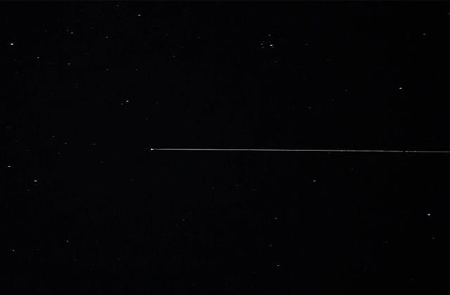 再突入カプセルの火球映像