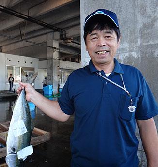 内之浦漁業共同組合・戸柱千年さん 写真提供:肝付町観光協会