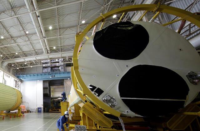 H3ロケット 逆VOS作業完了後の一時保管